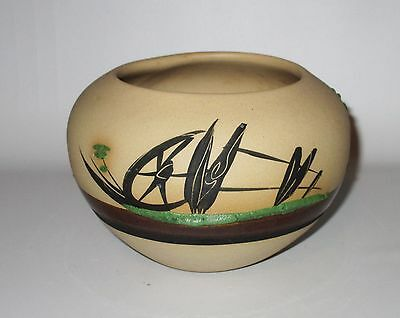 Desert Pueblo Pottery Vase Betty Selby 1984 Round Pot Cactus Signed Arizona