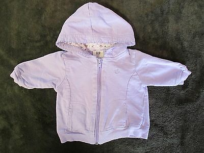 Baby Girl Purple Hooded Sweatshirt Size 0-3 M Zipper Fall Jacket