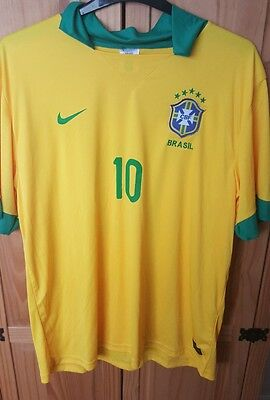Brazil Nike Home Football / Soccer Shirt  / Neymar 10