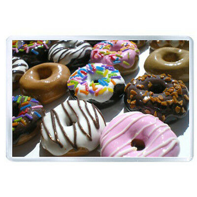 AU FRIDGE MAGNET donuts sweet glaze chocolate nuts 45096
