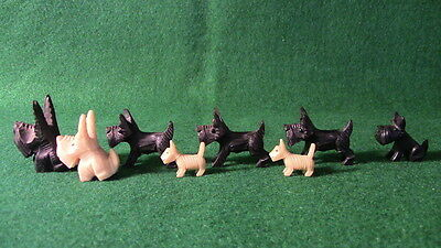 Tiny Black & White Scotch Whisky Mascot Dogs Collection Eight Dogs