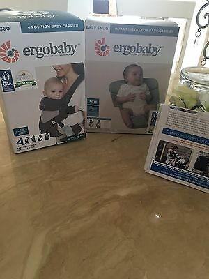 Ergobaby cool air 360  and Infant insert ergo baby
