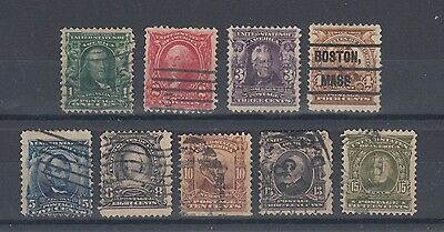 """USA 1902 Stamps """"SERIES 1902"""" Used Hinged No Gum (#1677)"""