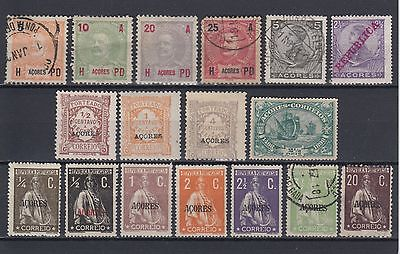 Azores 1906 Onwards Stamps Used & Mint Hinged No Gum (#1767)