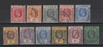 Nigeria 1914 KGV Stamps Values up to 1s Used Hinged No Gum (#915)