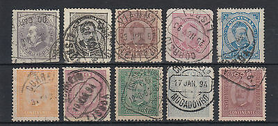 Portugal 1880-1892 King Luis & King Carlos Stamps Used Hinged No Gum (#1122)