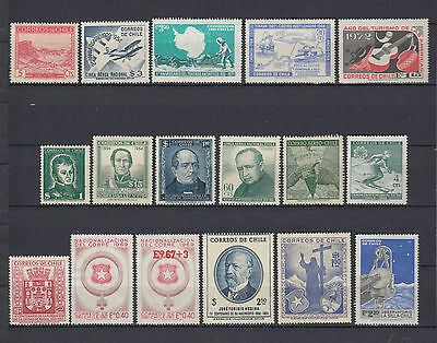 Chile 1936-1972 Selection Mint Hinged