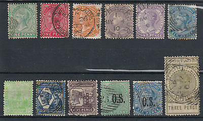 South Australia QV 1868 Onwards Selection Used Hinged No Gum (#1637)