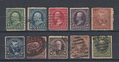 USA 1894 Stamps with Triangles in Upper Corners Used Hinged No Gum (#1676)