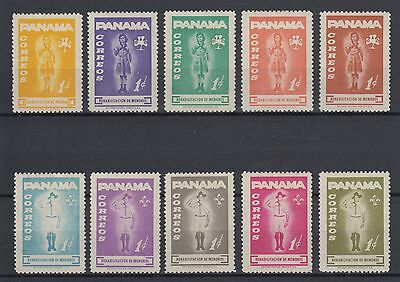 Panama 1964 Boy Scouts & Girl Guides Set SG822-831 Mint Hinged (#659)