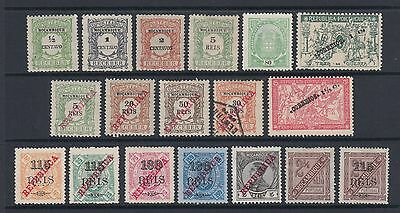 Mozambique 1904 Onwards Stamps Postage Newspaper Due Manoel Figures Mint Hinged