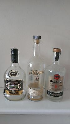3x Rum Rare Bottles and Boxes Collectable empty