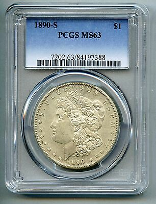 1890 S Morgan Silver Dollar -- PCGS MS 63 -- Mint State!  Free Shipping in USA!