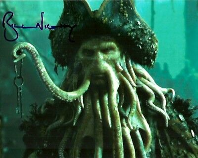 Pirates of the Caribbean Bill Nighy Autographed Signed 8x10 Photo COA