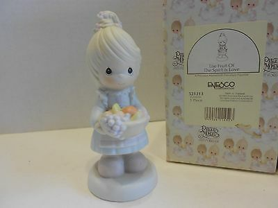 Precious Moments The Fruit Of The Spirit Is Love Girl with Fruit Basket 521213