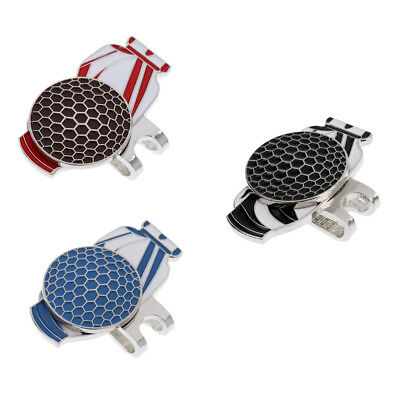 Magnetic Golf Ball Marker & Hat Clip High Quality Alloy Golf Bag Pattern