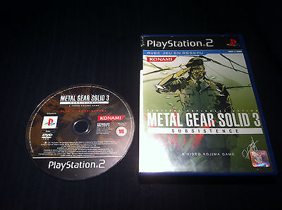 Metal Gear Solid Subsistance - FRANCAIS - jeu Game console Playstation 2 PS2
