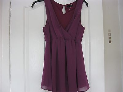plum maternity top size 12 new look bnwot