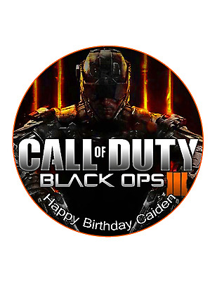 Call Of Duty Cake Image Personalised Birthday Decoration Party Topper