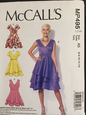McCall's Sewing Pattern 7316 Ladies Layered Dresses Sizes 6-14 New