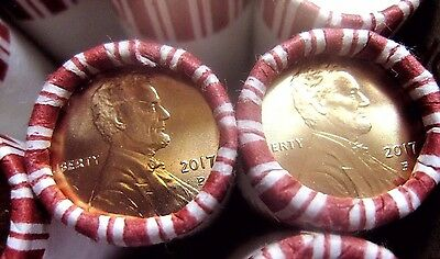 """2017-P  Lincoln Pennies -""""The FIRST EVER  """"P""""  Mint Marked Penny"""" ---10  ROLLS"""