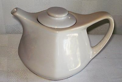 White Ceramic Lidded Tea Pot