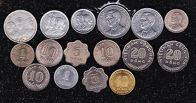 South Viet-Nam Completed 16 coins-1953-74 as well known as issued+++FAO.U-GRADE.