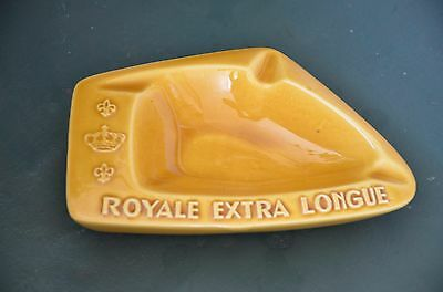 "Ancien Cendrier ""Royale Extra Longue"" Faïence d'Art Proceram Made in France"