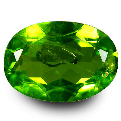 4.48 Ct Remarkable Fire Oval Cut 12 x 8 mm UnHeated Green Peridot Gemstones