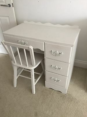 Child's Old Wooden Painted Desk Dressing Table