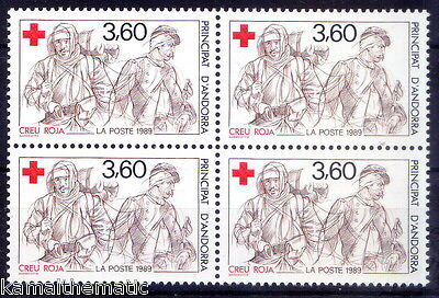 Andorra French Post 1989 MNH 1v Blk 4, Red Cross  - M5