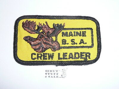 EARLY Matagamon Maine Boy Scout High Adventure CREW LEADER Patch