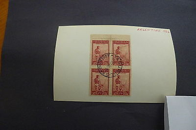 Block of 4  Used  Argentina 1936  agricultura  stamp