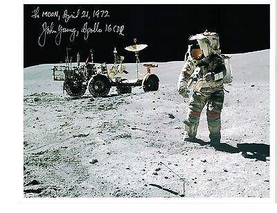 Superb Apollo 16 Astronaut John Young Signed Photo