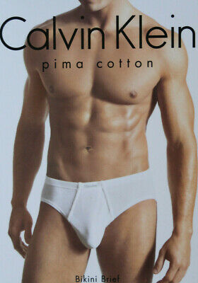 Calvin Klein 100% Pima Cotton Bikini Brief U5803 CK' Mens Underwear