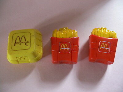 3 x McDonalds Happy Meal Toys. Transforming Meals. 1990