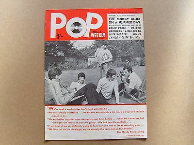 POP WEEKLY MAGAZINE - No 3 SERIES 4 - 11th SEPTEMBER 1965 - THE MOODY BLUES