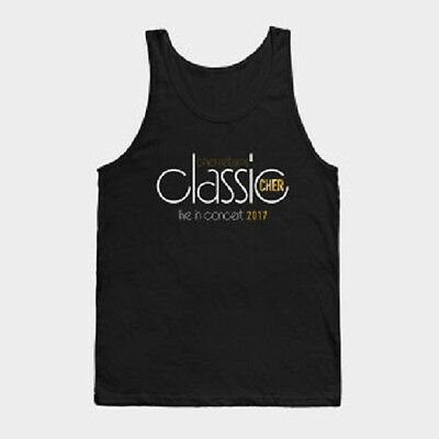 Classic Cher Live In Concert 2017 Black Tank Top (XL) ~Brand New~