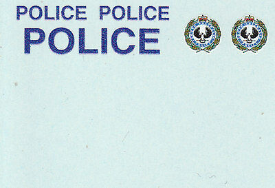 1:43 Waterslide decals POLICE South Australia