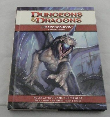 Dungeons and Dragons d20 4th Ed Draconomicon Chromatic Dragons HC 2008 WTC21788