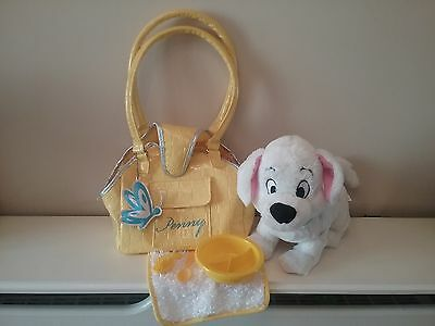 The Disney Store 101 Dalmatians Soft Toy Penny In Yellow Handbag