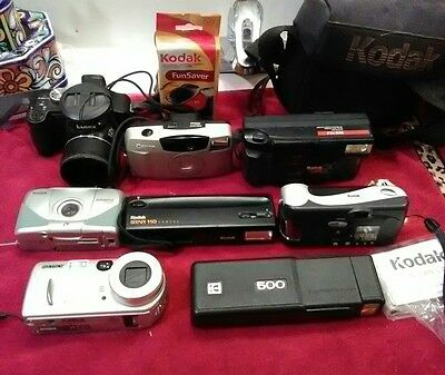 lot untested cameras 5 kodak,sony,canon,lumix for parts