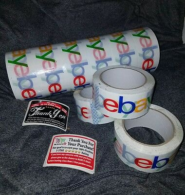 1 ROLL Official eBay BOPP Packaging Tape 2 MIL 2x75 W/ 25 Whit  5* Stickers