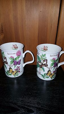 Original Roy Kirkham Butterflies Mug X 2 Fine Bone China Look  #1
