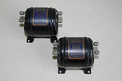 Matched Pair Vintage 1920s Karas Harmonik Audio Transformers for Tube Radio
