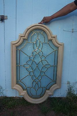 "Unique Beveled Glass Window 26"" X 42"" X 4"" with frame."