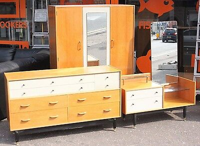 Mid-Century Teak Retro E Gomme G-Plan Bedroom Suite - Drobe/Chest/Dressing Table