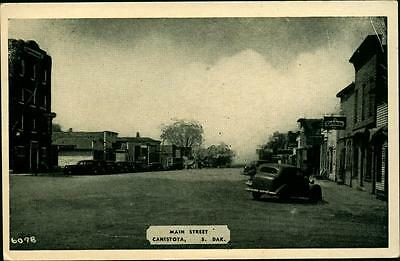 1940's  Postcard Canistota South Dakota Mc Cool County Main Street
