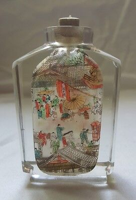 Beautiful Oriental Glass Snuff Bottle