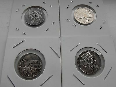 Set of 4 1937 U.S.A Hobo Nickels Buffallo Heads Collectable Coins